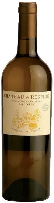 Bouteille de vin blanc cuvée Callipyge Château de Respide