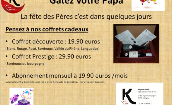 """Pack spécial """"Fête des pères"""""""