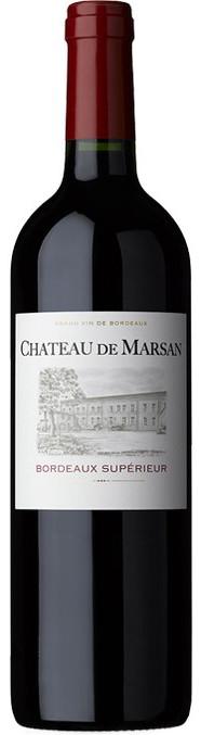 Bouteille de vin rouge chateau marsan bordeaux superieur